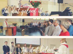 5 jonge gemeenteleden beamen hun doop....