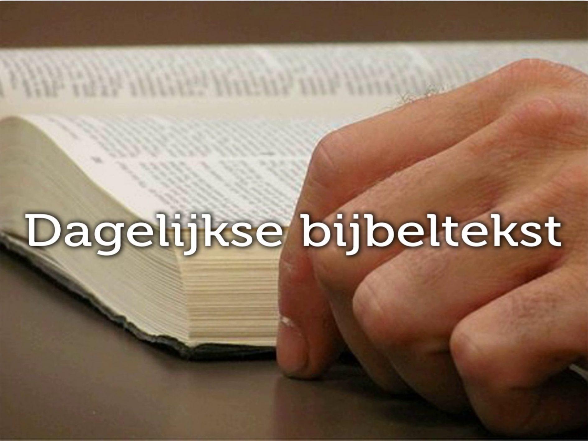 Bijbeltekst van de dag